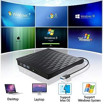 Amazon.com: ACETEND - Unidad externa de CD y DVD, USB 3.0 ...