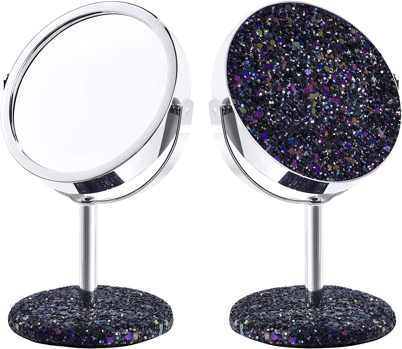 derui creation 3 5 inch clearance vanity mirror for girls glitter sparkly makeup mirror gifts for kids princess makeup party birthday