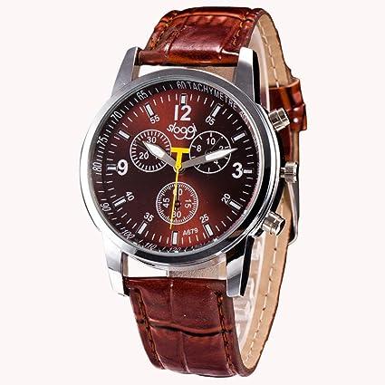 Coconano Tapa Reloj, Reloj Análogo de Cuero Sintético de Cocodrilo de Lujo.: Amazon.es: Ropa y accesorios