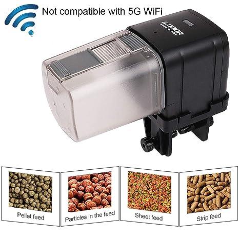 RCruning-EU WiFi Alimentador Automático Acuario de Peces Comedero Peces Automático con Pantalla LCD y