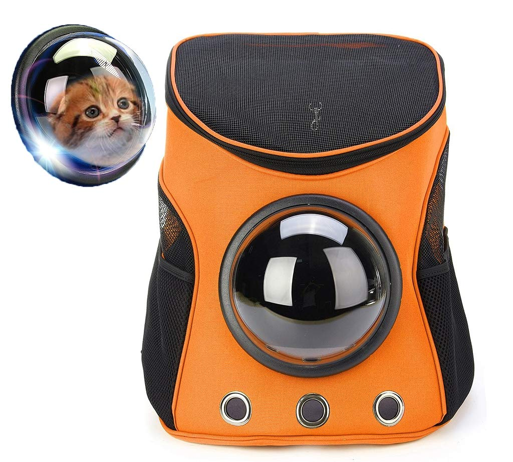 orange XIAOD Breathable Travel With Pet Backpack Pet Chest Bag Capsule Capsules Pet Breathable Handbag Large Capacity Travel Outdoor Portable Kitten Pack Puppy Astronaut,orange