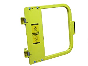 "PS DOORS LSG-21-PCY Ladder Safety Gate Mild Carbon Steel, Powder Coat Yellow, Fits Opening 19-3/4"" to 23-1/2"", Each"