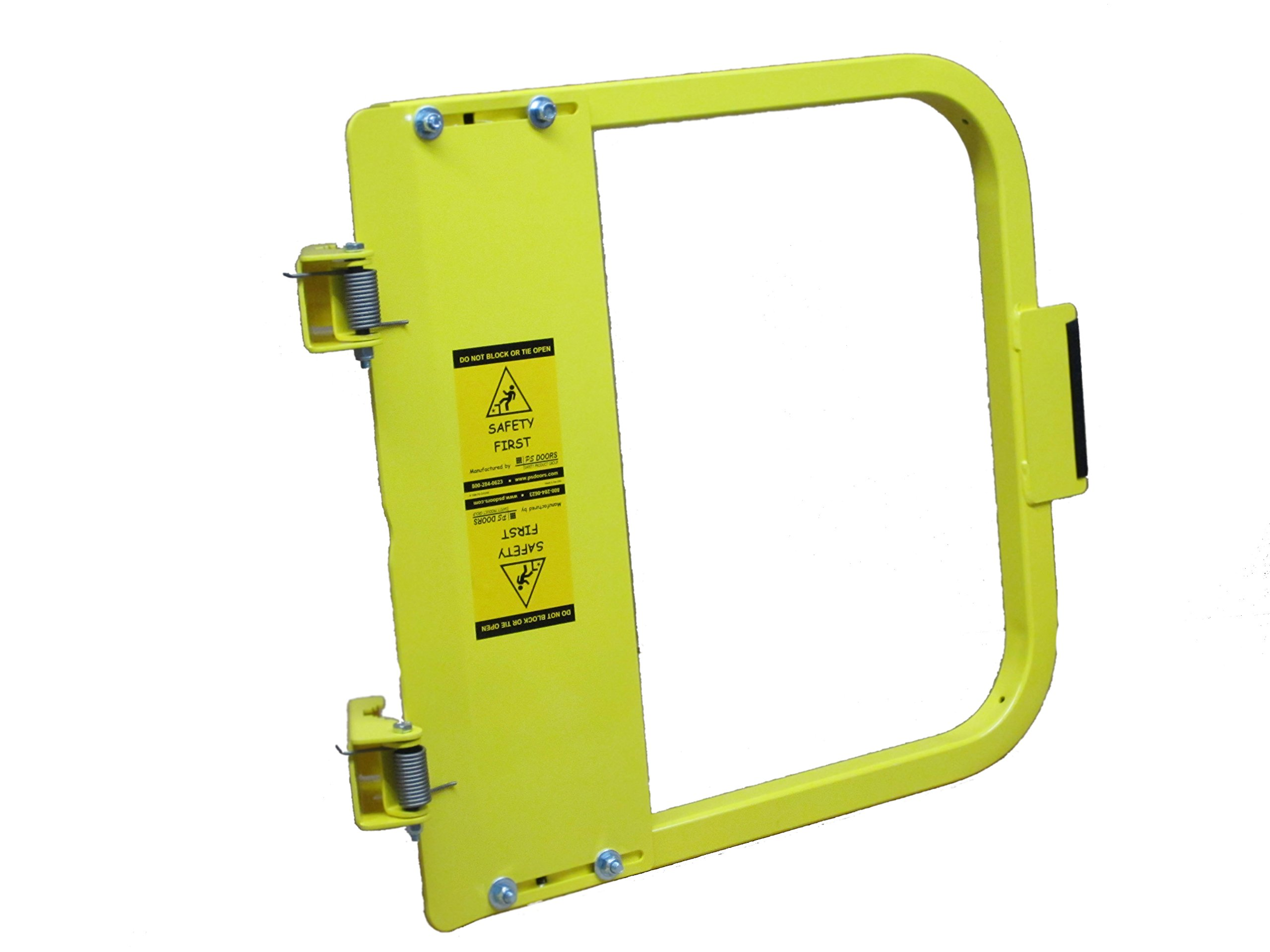 PS DOORS LSG-21-PCY Ladder Safety Gate Mild Carbon Steel, Powder Coat Yellow, Fits Opening 19-3/4'' to 23-1/2'', Each