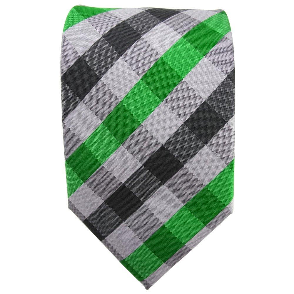 TigerTie - Corbata - verde verde esmeralda plata gris antracita a ...