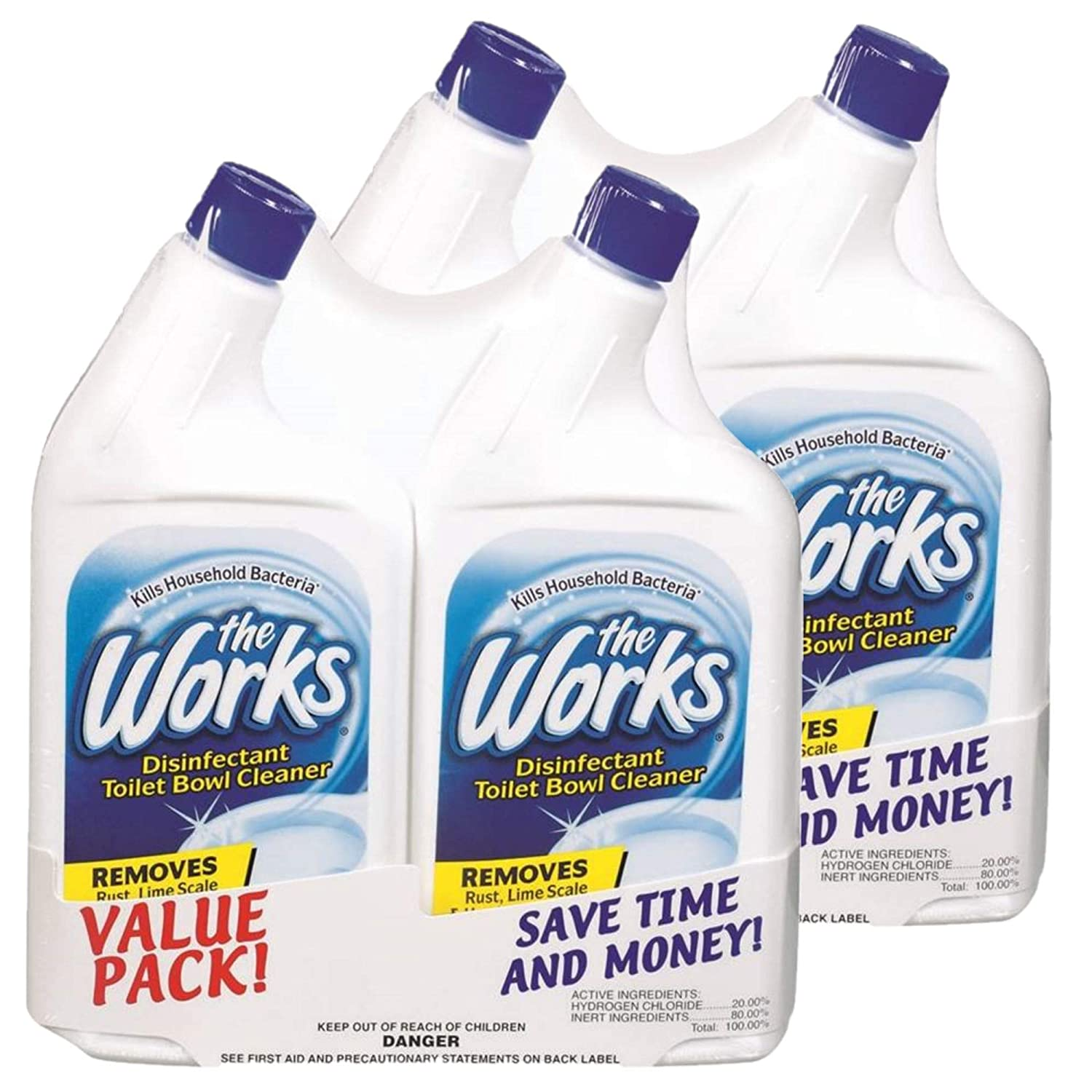 Home Care Lab The Works 32オンス トイレボウルクリーナー 2個パック 1-Pack 33310WK-4PK B07HJK4GZZ  1-Pack
