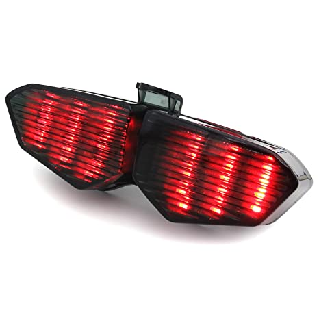 BSK New Flow-type Turn Signal Integrated Tail Lights For 2013-2018 Honda MSX 125 SF//GROM 125//CBR 650F//CTX 700//CTX 700N