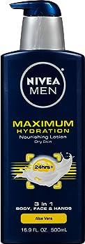 Nivea Men Maximum Hydration 3-in-1 Nourishing Lotion 16.9 Fl Oz
