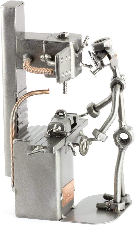 Steelman24 I Figurine en m/étal Soudeur I Made in Germany I Id/ées Cadeaux I Sculpture d/'Acier I Hommes de m/étal