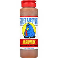 Secret Aardvark Habanero Hot Sauce | Made with Habanero Peppers & Roasted Tomatoes | Non-GMO, Low Sugar, Low Carb…