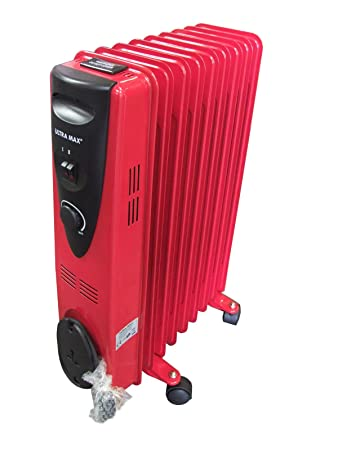 a24cbc95356 Image Unavailable. Image not available for. Colour  Ultramax 9 Fin 2000w  Electric OIL FILLED RADIATOR Heater With Thermostat Control ...