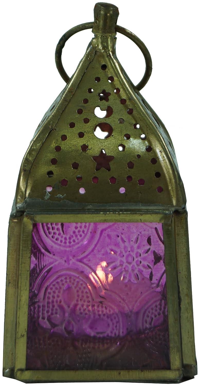 Portacandele in Ottone in 7 Colori 10x5,5x5,5 cm Guru-Shop Lampada in Vetro Colore: Arancione Lampada Uragano Contenitori di Candela Candela Decorativa Arancione