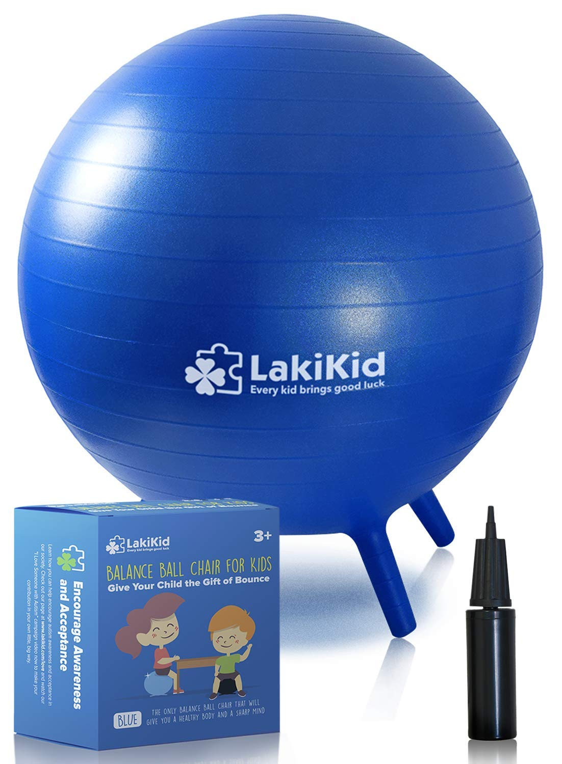 LakiKid Balance Ball Chairs for Kids Flexible Seating Classroom Furniture- Stability Ball Chairs with Legs, Exercise Ball Chair, Yoga Ball Chair, Ideal Alternative Seating for Students 18 45 cm