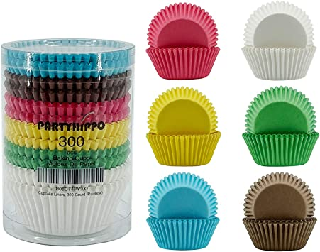 Pack of 24 Circus Themed Treat Cups Cupcake Holders Rainbow Striped Baking Cups Hip Hip Hooray Treat Cups