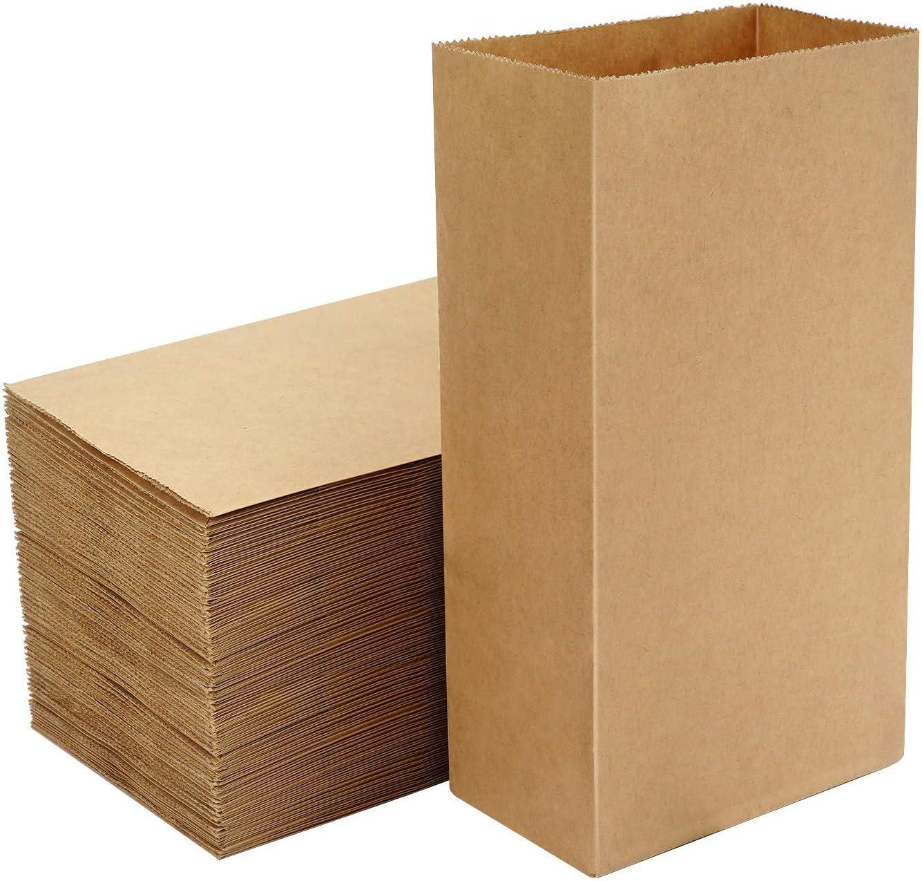 Kraft Food Bags, EUSOAR 100pcs 3lb 8.5x4.7x2.8
