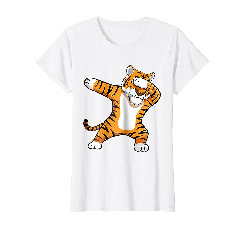 Dabbing Tiger Football Team Mascot Funny Dab T shirt