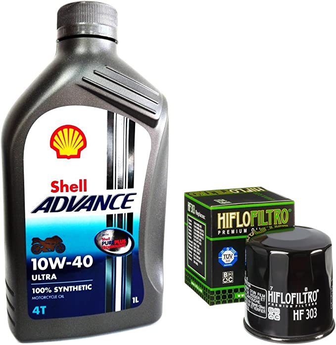 Maintenance Kit 4l Shell Advance Ultra 10 W40 Hiflo Filtro Oil Filter Hf303 Auto