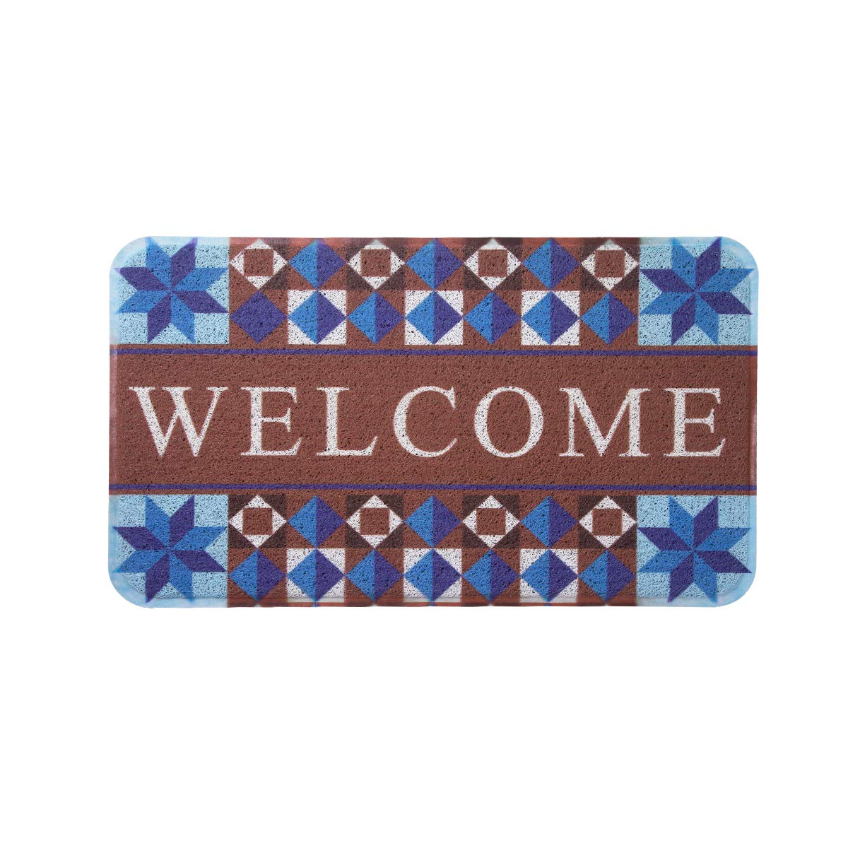 MAYSHINE Door Mat Non-Slip Mud Doormat Indoor/Outdoor Super Absorbs Washable Dirt Trapper Mats Rubber Backed Shoes Scraper House Entrance Rug for Garden- Welcome Colorful