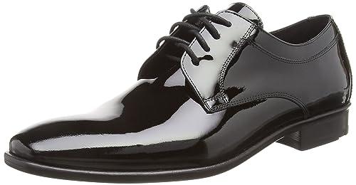 ZWEIGUTPiekfein #102 - Zapatos Planos con Cordones Hombre, Color Negro, Talla 43