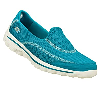 289ad92a76a1 Skechers Gowalk 2 13591 Turquoise Slip-On Trainers for Women  Amazon.co.uk   Shoes   Bags