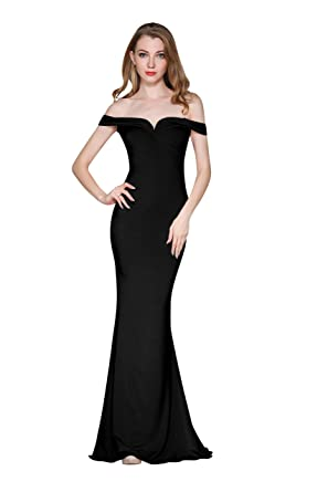 ChengDeYou Womens Mermaid Formal Evening Party Maxi Dresses Prom Gown Sexy Off Shoulder Long Dress (