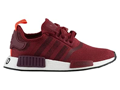 a37234e99ab89 adidas Men s Originals NMD R1 Noble Maroon Maroon Black Mesh Running Shoes  6 M