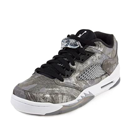 reputable site 8e5d7 7703c Nike Air Jordan 5 Retro PREM Low GG Cool Grey Wolf Grey White Black Leather  Size 5y