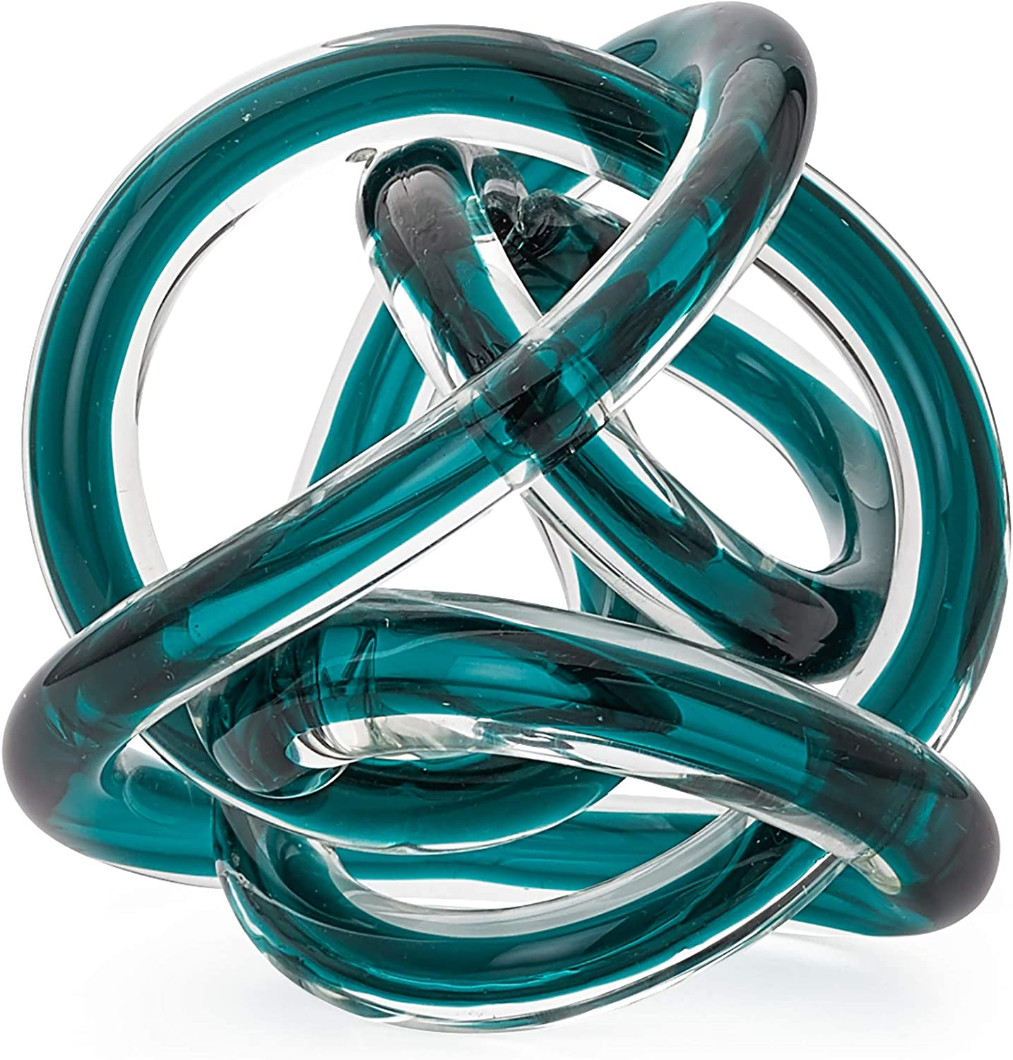 Torre & Tagus Orbit Glass Décor Ball, Large, Teal