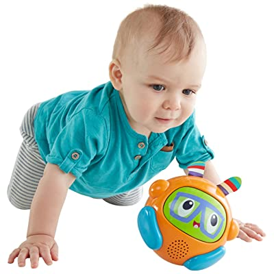 Fisher-Price Bright Spin & Crawl Tumble Franky Beats Ball: Toys & Games [5Bkhe0306172]