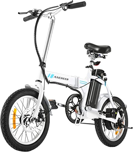 ANCHEER Folding Electric Bike, 16 Inch Collapsible Electric Commuter Bike Ebike with 36V 8Ah Lithium Battery