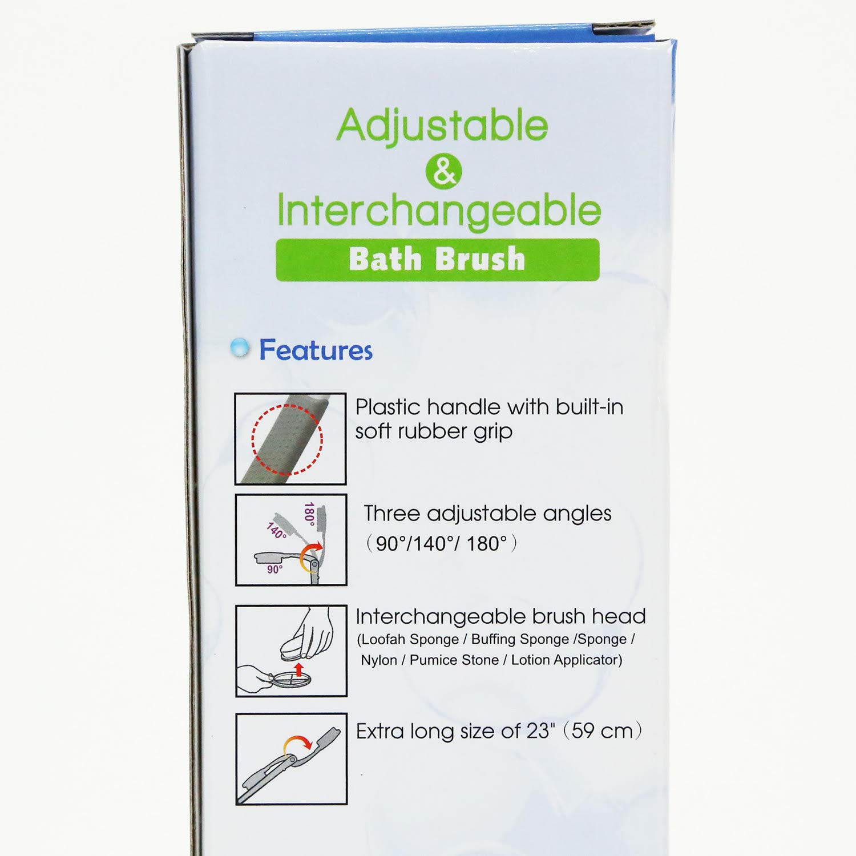 Adjustable Angle Back, Foot, Body Loofah Sponge: Beauty