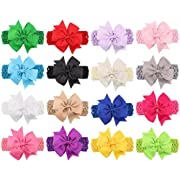 Baby Headbands Turban Knotted, Girl's Hairbands for Newborn,Toddler and Childrens (4  Bow 16-Pack)
