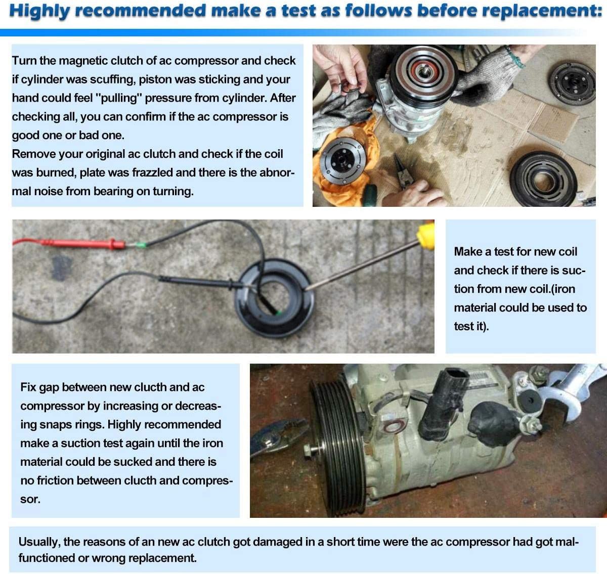 A//C Compressor /& Component Kit-Compressor Replacement Kit fits 02-06 Honda CR-V