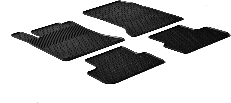 Gledring Alfombrillas de Goma Compatible con Mercedes Clase B W246 2011-2019//Clase a W176 2012-2018//CLA//GLA 2014-2020 Perfil G 4-Partes + Clips de Montaje Negro GL 0327