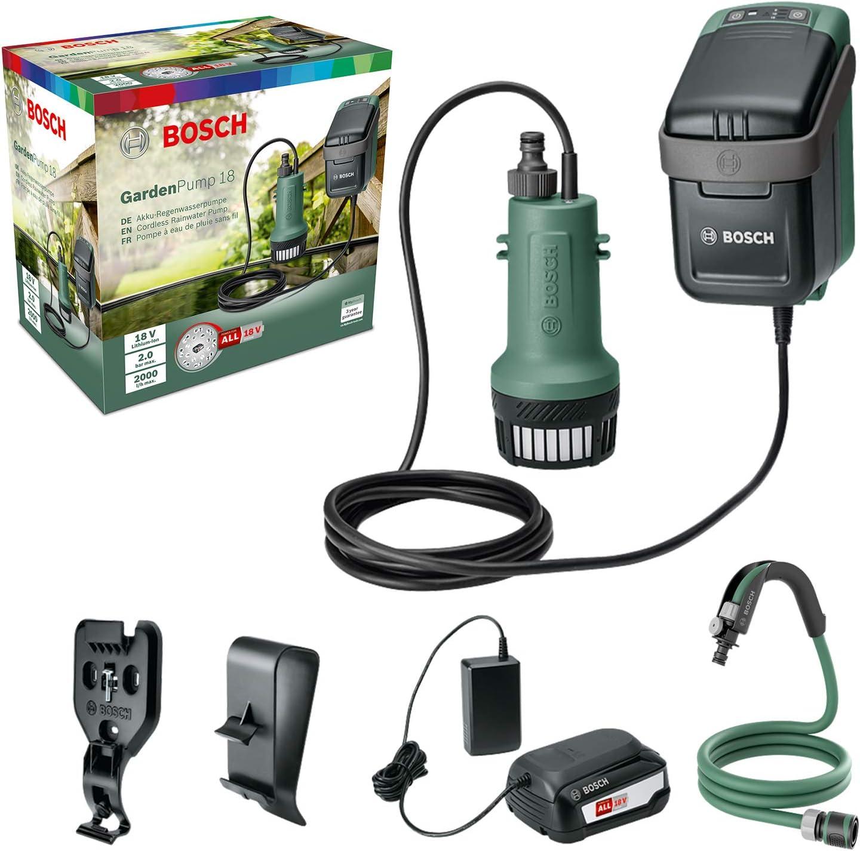Bosch Pompe à Eau Submersible sans Fil GardenPump 18