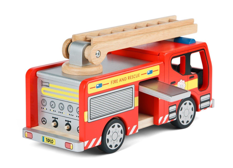 Tidlo Wooden Fire Engine Playset John Crane Ltd T-0115
