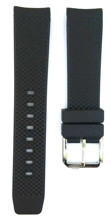 22 mmブラックゴム時計ストラップfor Aquatimer Watches 396iwc  B0793TVC34