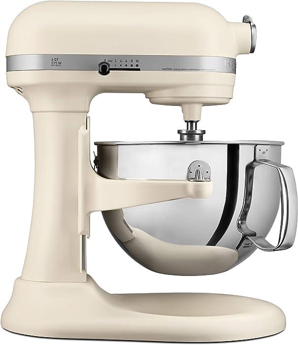 KitchenAid KP26M1XFL Professional 600 Stand Mixers, 6 quart, Matte Fresh Linen (Renewed)