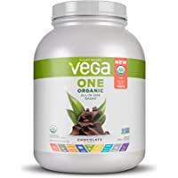 Vega One Organic All-In-One Shake, Chocolate XL (42 Servings, 61.8 Ounce) - Plant Based Vegan Protein Powder with Vitamins, Minerals, Antioxidants, No Dairy, No Gluten, Non GMO