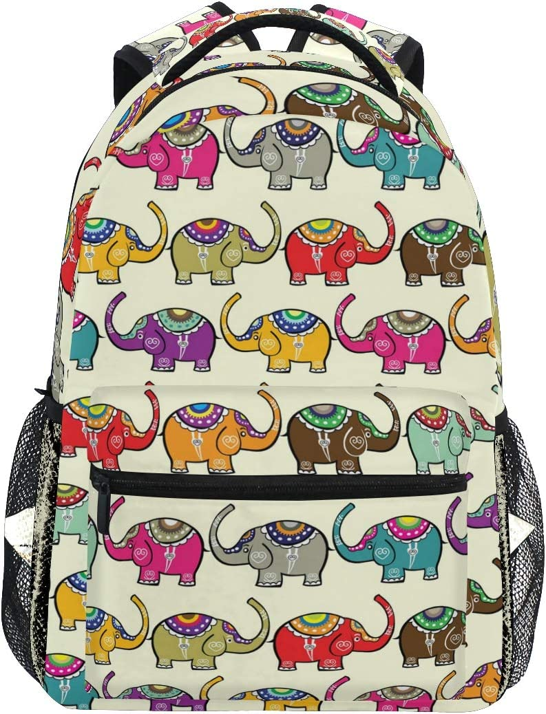 Ahomy Mochila India Elefantes Mochila Escolar para niñas niños ...