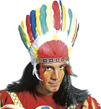 ccbf49cfc87 Indian Headgear Indian Hats Caps   Headwear for Fancy Dress Costumes  Accessory  Amazon.co.uk  Toys   Games