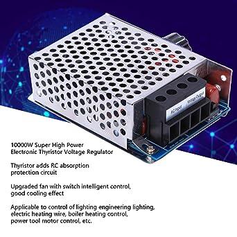 AC 110V-230V 10000W Super-high-power SCR Voltage Regulator Dimming Dimmer with Electronic Thyristor Electronic Voltage Regulator