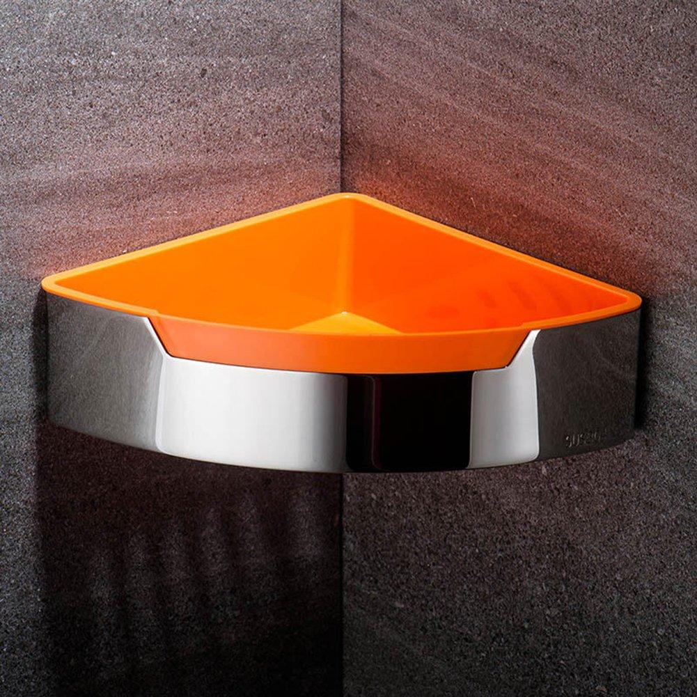Etbotu Triangle Bathroom Shelf, Wall-mounted Bath Storage Basket, Stainless Steel - 1 Layer