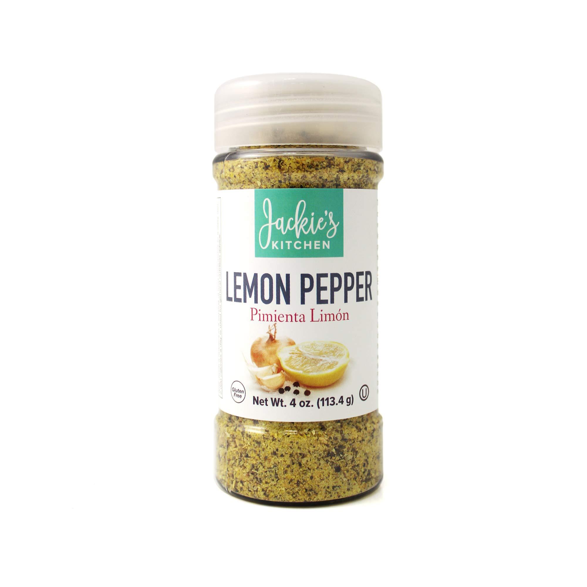 Jackie's Kitchen Lemon Pepper, 4 Ounce