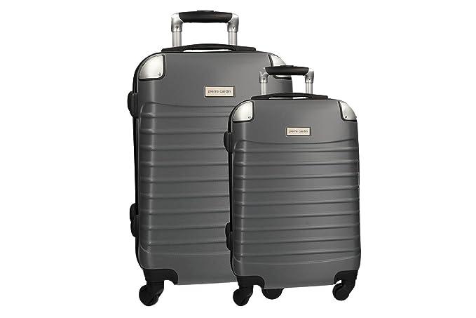 2 Maletas rígidas PIERRE CARDIN gris cabina para viajes 4 ruedas VS352: Amazon.es: Ropa y accesorios
