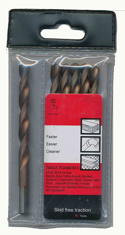 TG Tools A9144:40952D Cobalt Plated High Speed Drill Bit 3//8-Inch 6-Piece