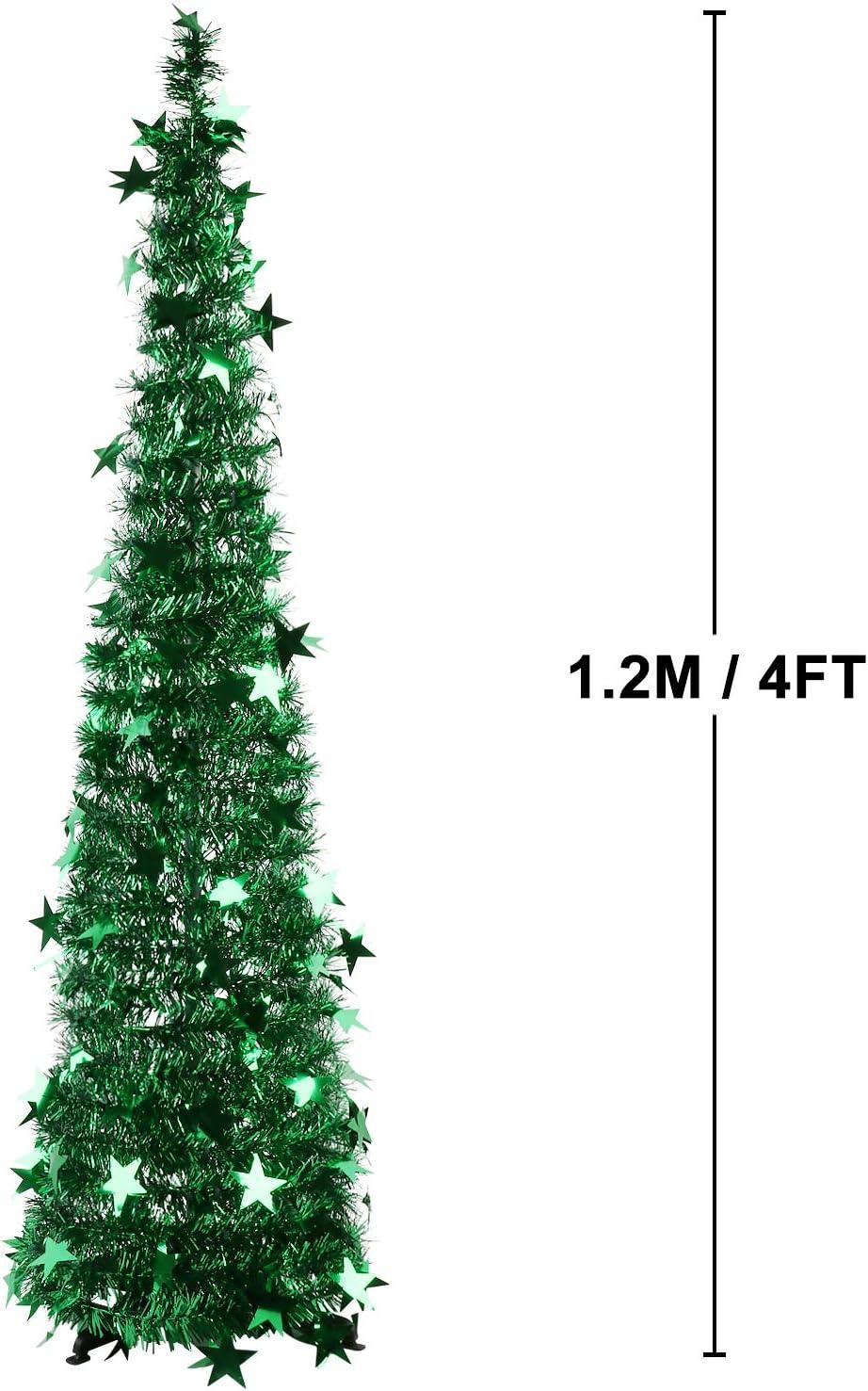 FunPa Árboles de Navidad, 3.94ft Tinsel Lentejuelas Árbol de ...