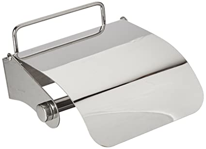EzHome Non-Permanent Adhesive Stainless Steel Toilet Paper Holder ...