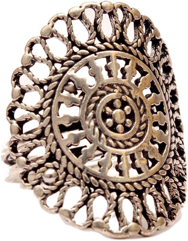 JD/&JD Silver Plated Oxidized Adjustable Ring Jewelry KE1333