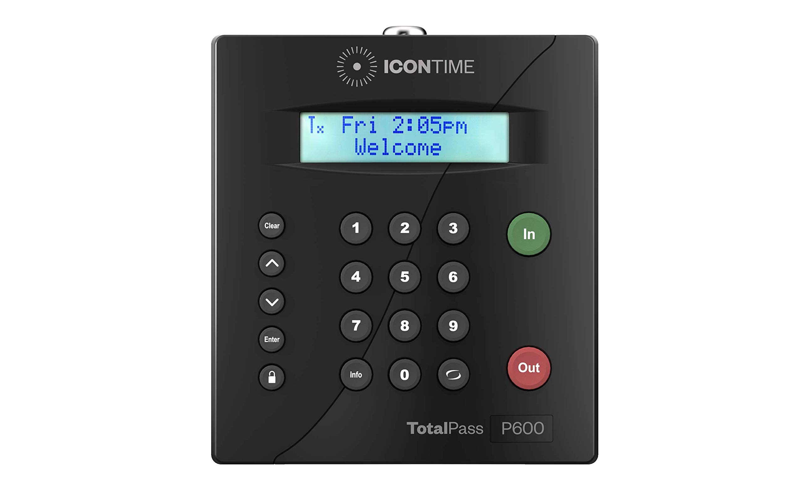 TotalPass P600 Employee Time Clock | Ready to Use Out-of-The-Box| Manage Timecards via USB, Network, Wi-Fi or Web| No Monthly Fees by Icon Time Systems