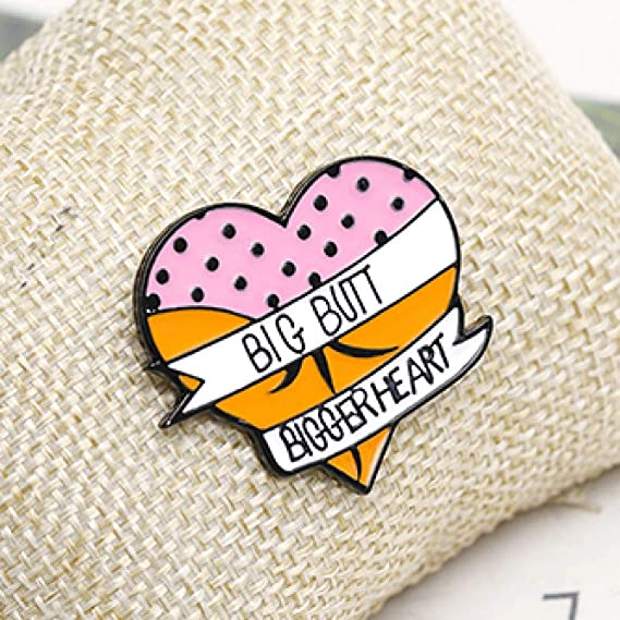Made in the UK Elephant Bum Enamel PinFunny Animal Enamel Badge Brooch Pin